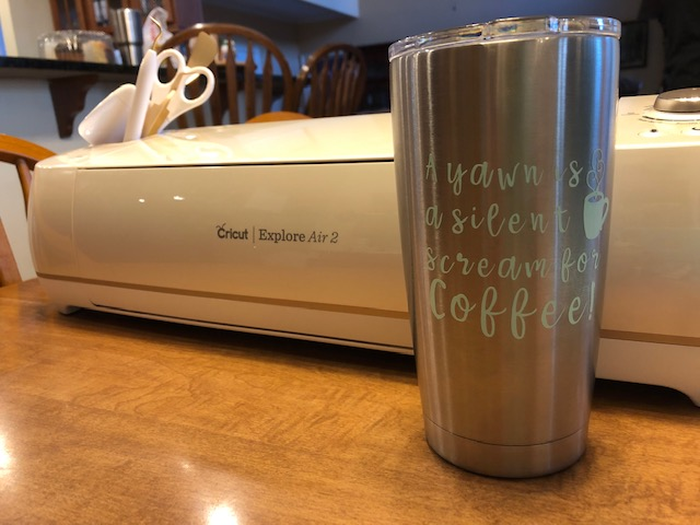 Using Cricut to add a Vinyl Label to a Tumbler Cup – Welcome